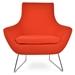 Rebecca Modern Arm Chair in Orange Wool by sohoConcept