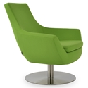 Rebecca Modern Arm Chair Pistachio Wool + Swivel Base