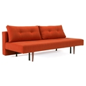 Recast Plus Modern Sleeper Sofa in Paprika by Innovation