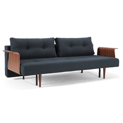 Recast Plus Modern Sleeper Sofa in Nist Blue by Innovation