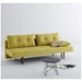 Recast Contemporary Sleeper Sofa in Mustard by Innovation