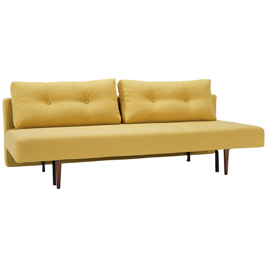 Recast Sleeper Sofa in Soft Mustard by Innovation