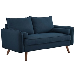 Redcliffe Modern Blue Fabric Loveseat