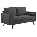 Redcliffe Modern Gray Fabric Loveseat