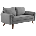 Redcliffe Modern Light Gray Fabric Loveseat