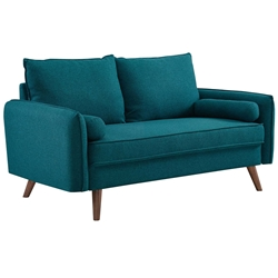 Redcliffe Modern Teal  Fabric Loveseat