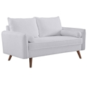 Redcliffe Modern White Fabric Loveseat