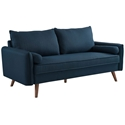 Redcliffe Modern Blue Fabric Sofa