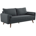 Redcliffe Modern Gray Fabric Sofa