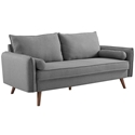 Redcliffe Modern Light Gray Fabric Sofa