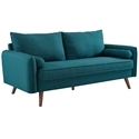 Redcliffe Modern Teal Fabric Sofa