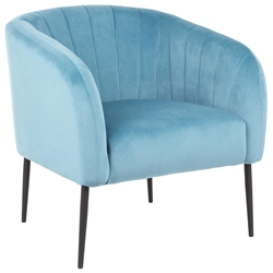 Reeves Modern Accent Chair in Turquoise Velvet