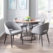 Reeves Contemporary Dining Chairs in Grey + Black