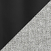 Reeves Modern Dining Chair Swatch in Grey + Black