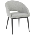 Reeves Modern Dining Chair in Grey + Black