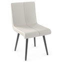 Regent Modern Dining Chair by Amisco in Metallo + Grigio
