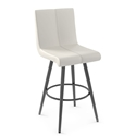 Regent Modern Counter Stool by Amisco in Metallo + Grigio