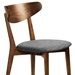 Reign Contemporary Walnut + Grey Dining Chair