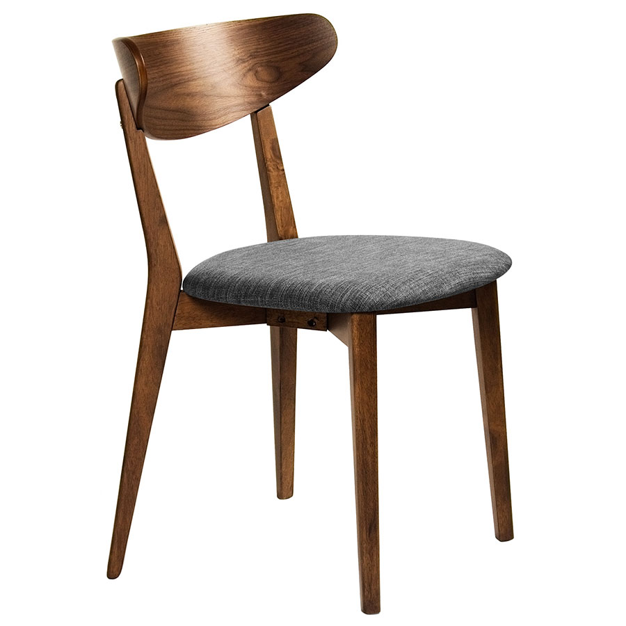 Reign Modern Walnut Dining Chair Eurway Furniture