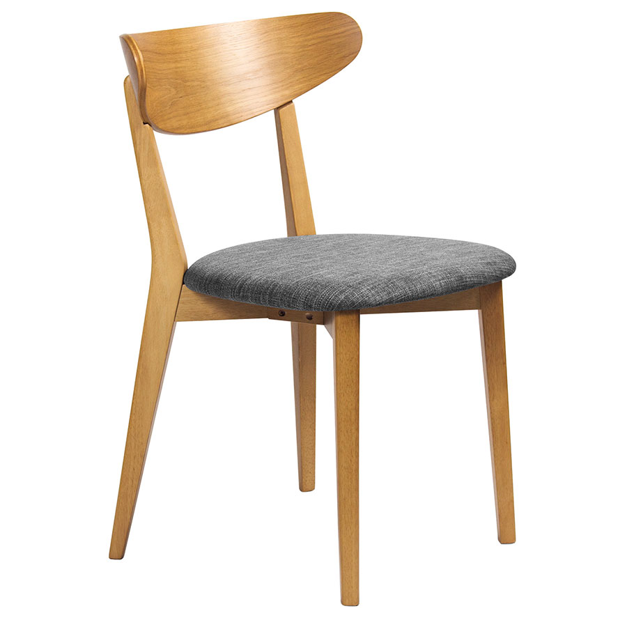 Reign modern white oak dining chair eurway furniture for Modern oak dining chairs