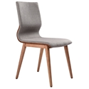 Remington Modern Fabric + Walnut Dining Chair