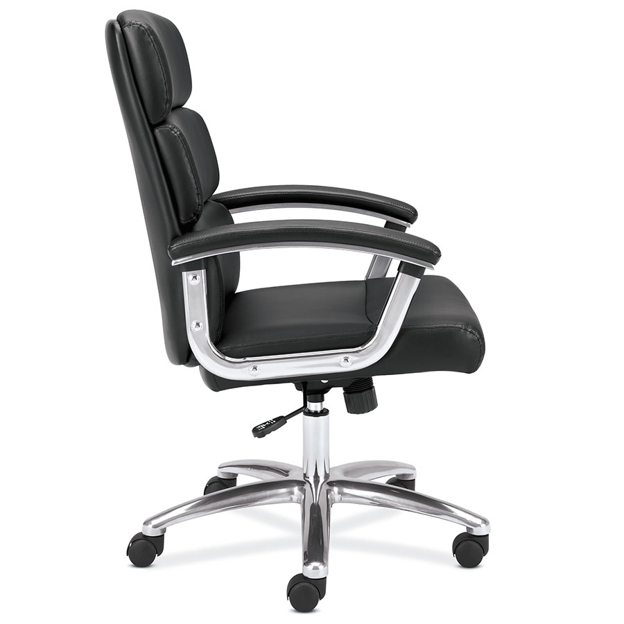 Remix Black Modern Leather Office Chair Eurway