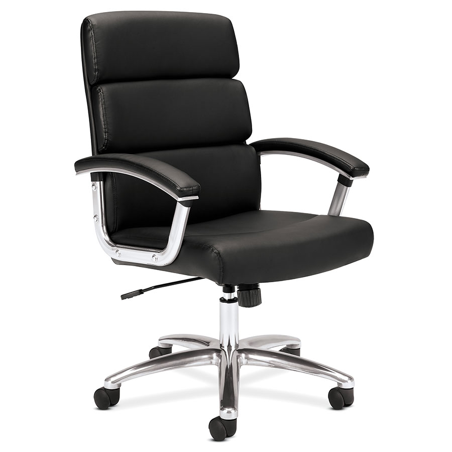 Remix Black Modern Leather Office Chair
