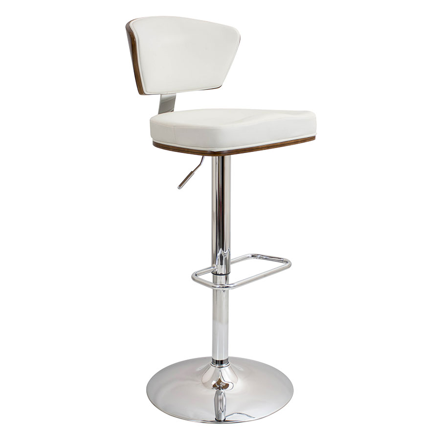 Remy White Modern Adjustable Stool