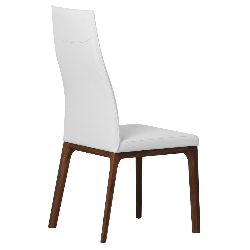 Remy White Contemporary Dining Chair Back