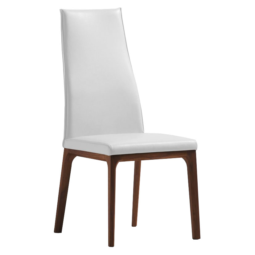 Remy White Contemporary Dining Chair