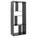 Rennes Gray Modern Shelving Unit + Media Stand