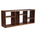 Rennes Modern Shelving Unit + Media Stand in Walnut