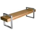 Return Contemporary Bench in Walnut by Gus Modern