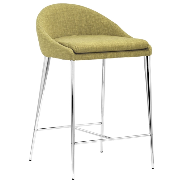 Reykjavik Modern Counter Stool in Pea Green by Zuo