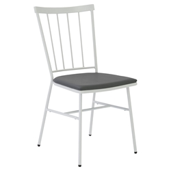 Rhaxma Modern White + Gray Side Chair by Euro Style