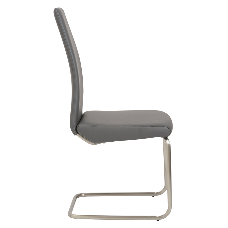 ... Rhea Gray Leatherette Modern Side Chair ...