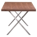 Rhine Modern Dining Table - End View