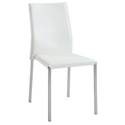 Rhodes White Modern Dining Side Chair