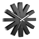Umbra Ribbon Modern Black Steel Wall Clock