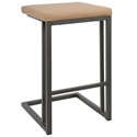 Ridley Contemporary Counter Stool in Camel