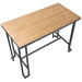 Ridley Modern Counter Table Gray + Natural - Top View
