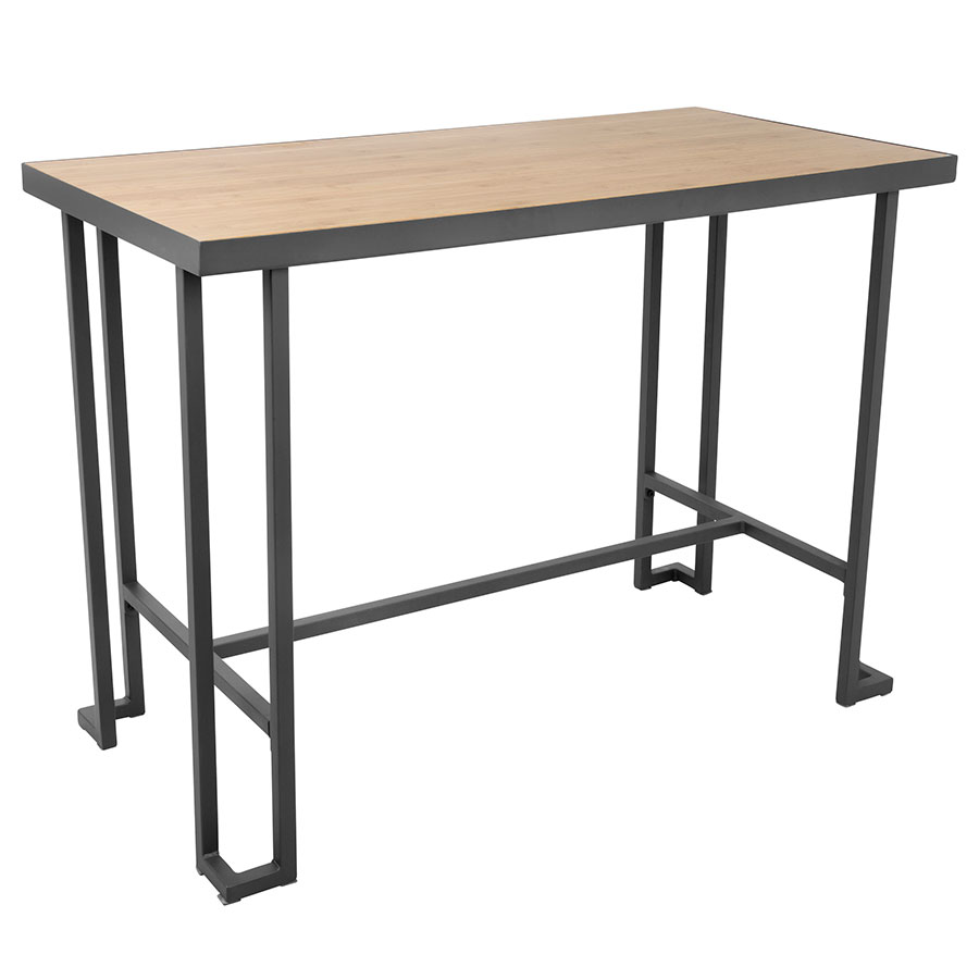 Ridley Modern Counter Table Gray + Natural