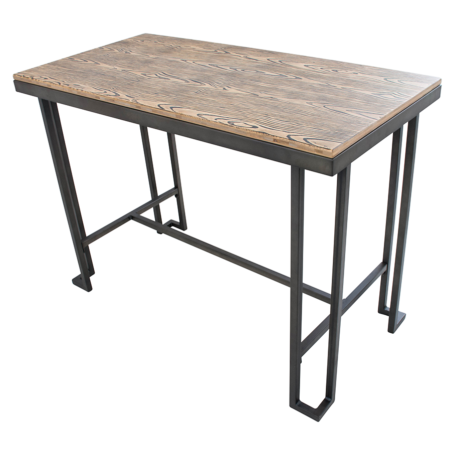 Ridley Metal + Wood Modern Industrial Counter Table