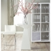 Riley-C Contemporary White Counter Stool by Euro Style