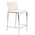 Riley-C Modern White Counter Stool by Euro Style