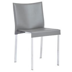 Riley Modern Dining Side Chair in Gray by Euro Style