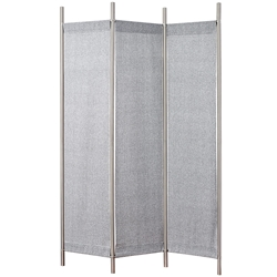 Ritz Modern Folding Floor Screen in Grey