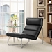 Roanoke Contemporary Black Lounge Chair