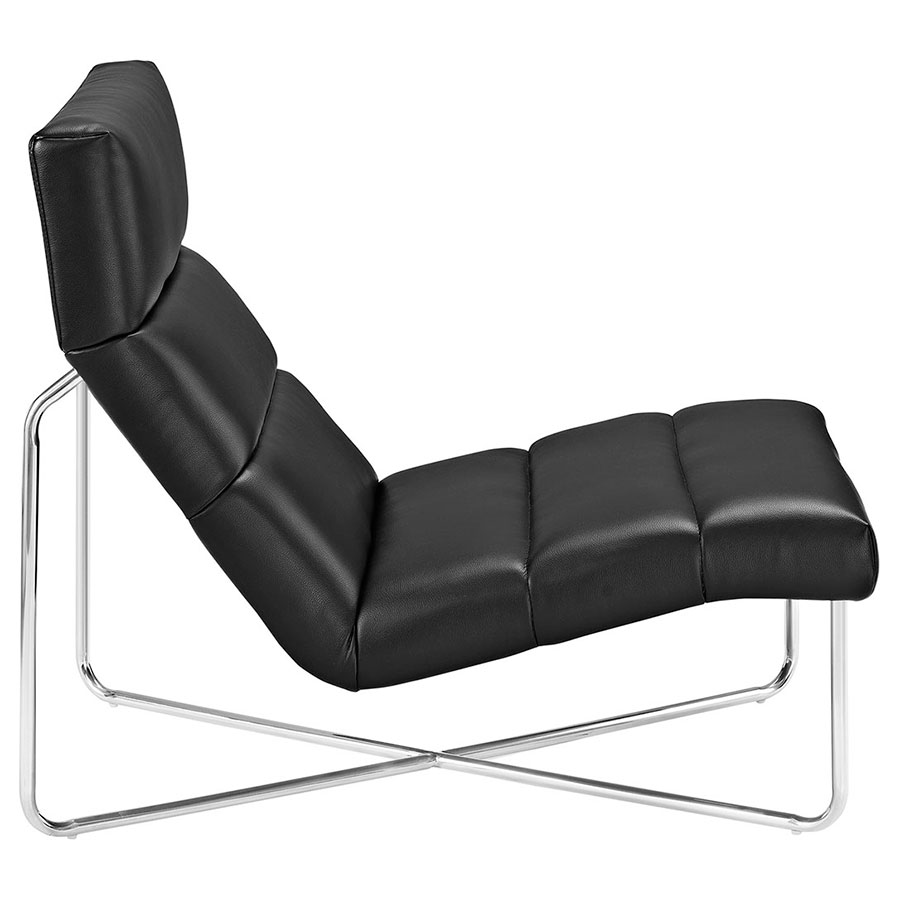 roanoke modern black lounge chair  eurway furniture -  roanoke modern black lounge chair  side view