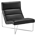Roanoke Modern Black Lounge Chair